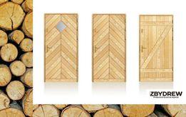 Kolekcja FOLK / Drewniane drzwi zewnętrzne - ocieplane - solidne