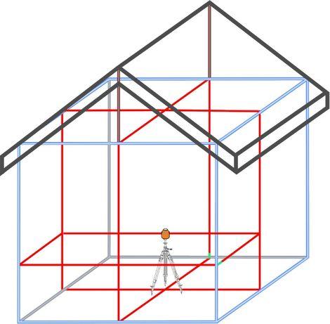 WYTRZYMAŁY 60m Laser liniowy krzyżowy Geo6X SP geoFennel 3D + STATYW Kielce - image 8