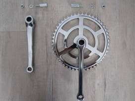 bicycle spares - vintage single front cluster with cotter pins