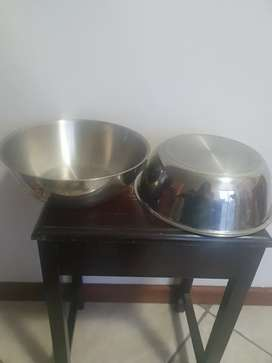 Stainless steel bowls. AMC