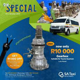 Quality Used Gearbox for Toyota Quantum | On Special until 2 October