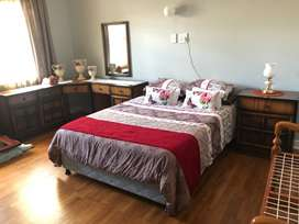 Spare room bed and cupboards