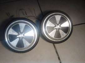 Two hoverboard wheels
