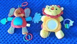 Zabawki sensoryczne Fisher Price lew z lusterkiem i słoń