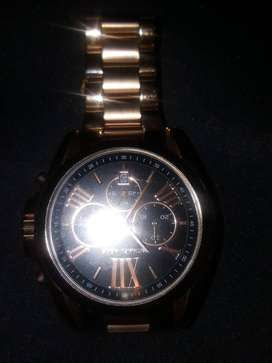 Michael Kors Bradshaw Chronograph Rosegold/Black Ladies watch