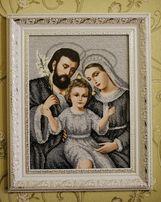 Картина вишита бісером (Святе сімейство)