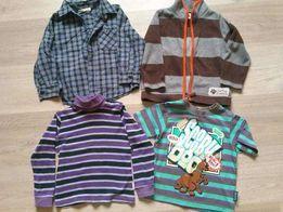 Пакет вещей на мальчика (флиска, рубашка, футболка, гольф)