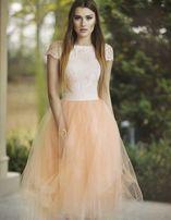 Piękna łososiowa sukienka tiul rozm.S NOWA!