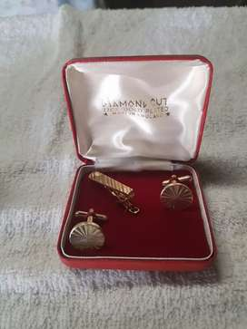 Cufflink and tie pin and clip