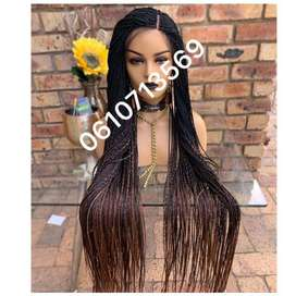 Stunning extra length custom mix lace front twist wig