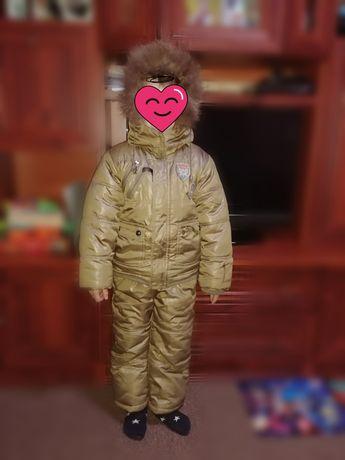 Продам зимний тёплый костюм на рост 104-110 см. На фото ребёнок 116см Харьков - изображение 2