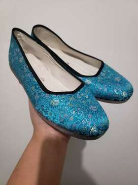Nice hand-made embroidered lady shoes