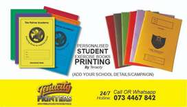 Personalized or Custom printed school exercise books