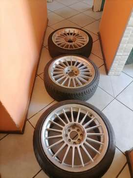 3 rims with tyres