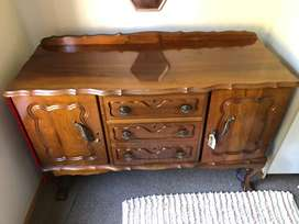 Imbuia Ball and Claw Serving Dresser