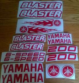 Blaster decals graphics vinyl cut sticker kit