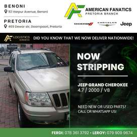 Now breaking Jeep Grand Cherokee 4.7 for parts. Call or WhatsApp us to