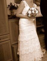 Suknia ślubna Cymbeline Guirlande koronkowa śmietankowa koronka