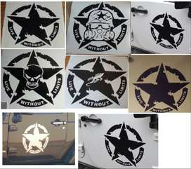 Live without limits door / bonnet star decals stickers
