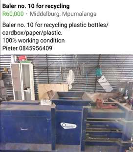 Baler no 10 for recycling
