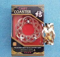 2 x łamigłówka Cast Ring + Coaster, Prezent