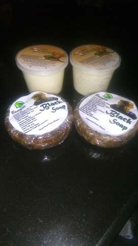 Sheabutter and black soap 100%organic