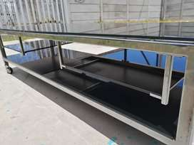 1.5m glass table 10mm