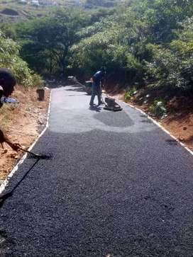 Asphalting and paving contractors.