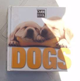 """Cube Book """"Dogs"""" Hard Cover Puppies Pets"""