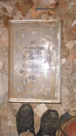 Канистра металлическая из под масла 16.5 литров, СССР. Харьков - изображение 6