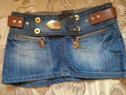 Джинсовая юбка Prada мини