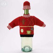 Новорічне вбрання для пляшки доброго вина