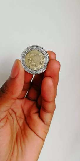 20 years of democracy R5 coin