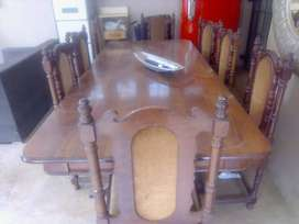 Beautiful crafted 8 seater Imbuia wooden table for sale