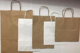 Пакеты из крафт бумаги В НАЛИЧИИ! белые и бурые
