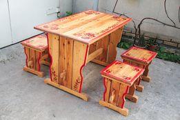 Мебель деревянная набор стол стул