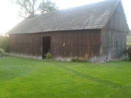 Skup starego drewna, belki stare, deski stare, stodoła