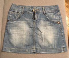 Spódnica jeansowa mini firmy Promod, rozmiar 38