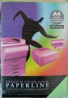 Цветная бумага А4, 5 ярких цветов