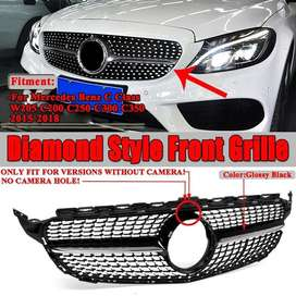 Mercedes Benz C Class W205 AMG Style Diamond Front Grill
