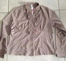 Bluzka beż falbanka 48 Alfą ORSAY H&M cubus reserved F&F