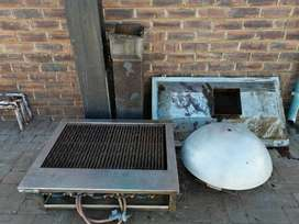 Gas Griller with Extractor unit