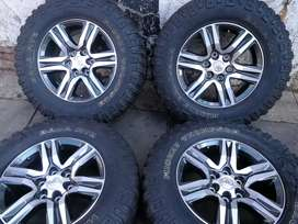 A set of toyota 4x4 mags and Tyres 17 inch