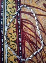 Серебряная цепь, мужская,цепочка,крестик,браслет