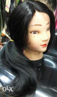 Semi-human lace wig with side cut 0
