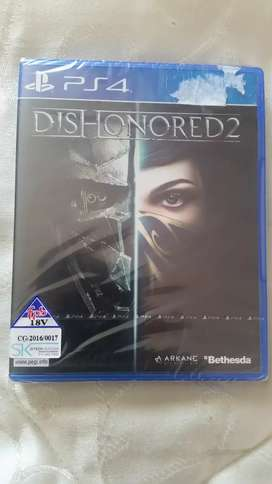 Dishonored 2 PS4 New Sealed