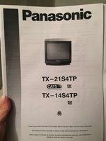 Telewizor Panasonic z dwoma pilotami 14''