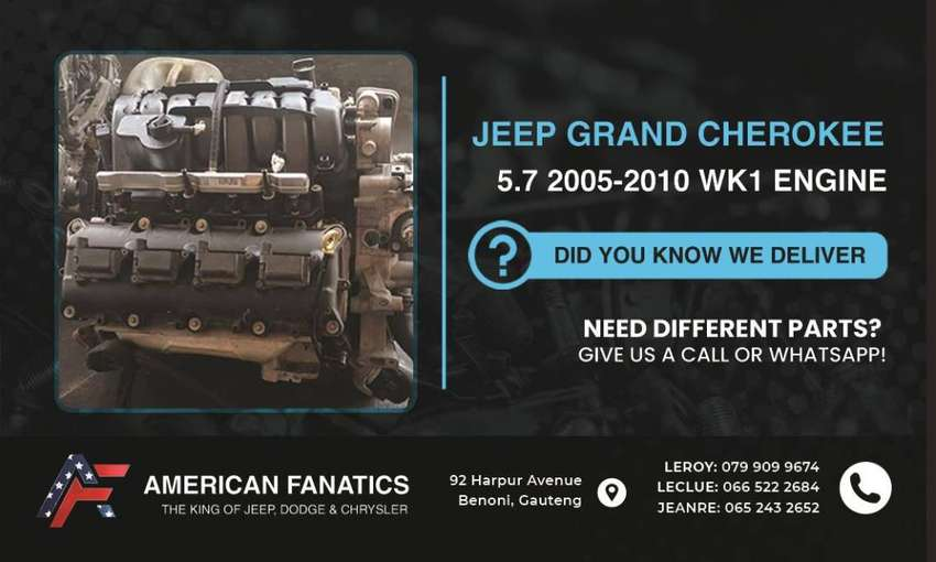 Selling Jeep Grand Cherokee 5.7 2005 - 2010 WK1 Engine and also other 0