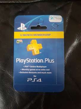 Ps plus 12month for sale