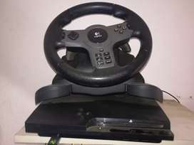 Ps3 with 18 games and steering wheel. R3000 or best offer